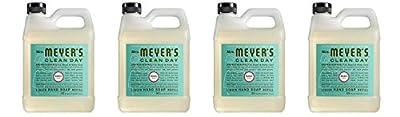 Mrs. Meyers Liquid Hand Soap Refill, Basil Scent, 33 Oz (2 Refills)