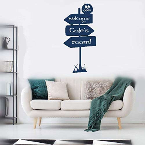 Pikaes Vinyl Wall Lettering Stickers Quotes and Saying Personalized Name Sign of Adventure Welcome to Room for Nursery Kids Room Boys Girls Room