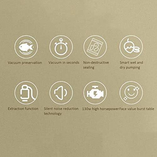 Aspirateurs Ménagers Scellant Smart Sec Et Humide sous Vide/Vide Conservation/Mute D'économie D'énergie/Facile À Nettoyer Autovacuum Scellant, Design Compact, Jaune