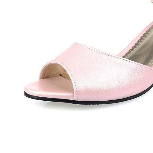 Balamasa Flickor Glas Diamant Mode Mjuka Material Sandaler Rosa