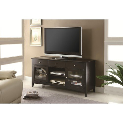 TV Stands Dark Cappuccino TV Console with CONNECT-IT Power Drawer by R&R