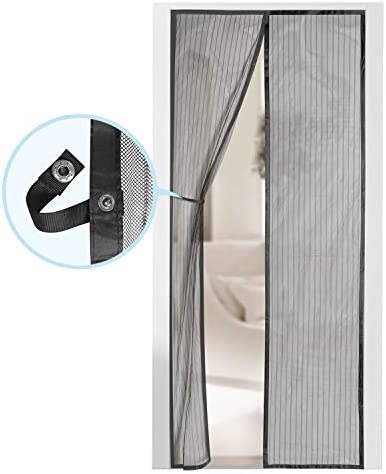 "Magnetic Screen Door - Self Sealing, Heavy Duty, Hands Free Mesh Partition Keeps Bugs Out - Pet and Kid Friendly - Patent Pending Keep Open Feature - 38"" x 83"" - via Augo"
