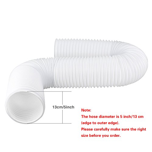 Aboat Exhaust Hose for Portable Air Conditioner 5 Inch Diameter Universal with Length 59 Inch