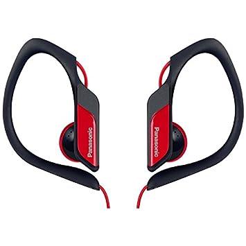 Panasonic RP-HS34E-R Auriculares de clip, 3.5 mm, negro y rojo ...