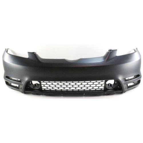 Front Bumper Cover Compatible with Toyota Matrix 2003-2004 Primed XRS/(XR Model with Spoiler Holes)
