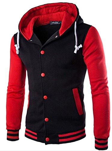 Capispalla Uomini Jeansian Casuale Tendenza Inverno Sport 9347 Cappotto Red Moda Design Sottile Uomo Giacca nPTrYPWqt
