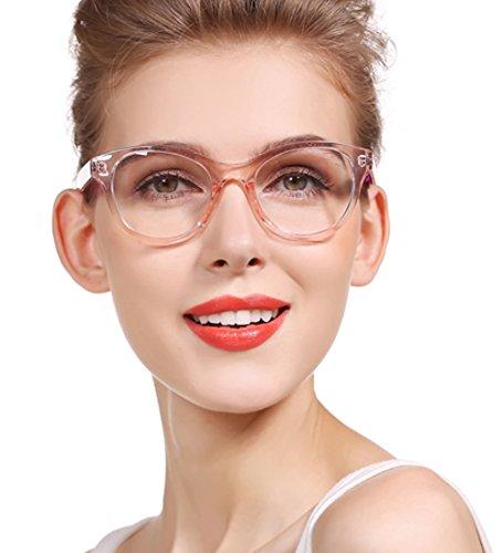 SOOLALA Lovely Hit Color Oversized Clear Lens Eye Glasses Frame Wide ...