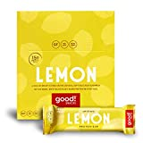 good! Snacks Vegan Lemon Protein Bar | Gluten-Free, Plant Based, Low Sugar, Kosher, Soy Free, Non GMO | 15g Protein