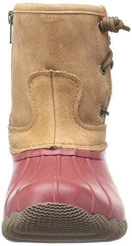 Sperry Top-sider Womens Saltwater Pearl Stivali Da Pioggia Stagionali Rosso / Marrone Chiaro