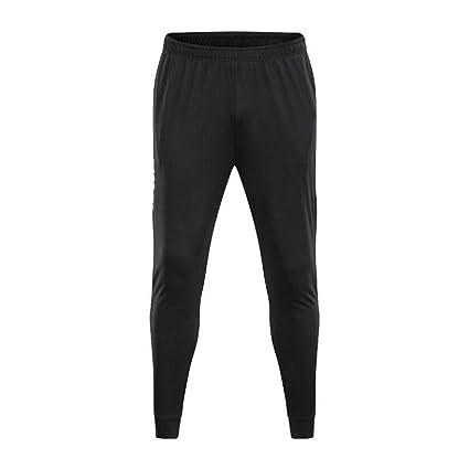 LuckyGirls Pantalón Chándal Hombre Entrenamiento Running Cintura Elástica  Pantalones Jogger Ropa Deportiva Pants (Negro 9ed434b5540a