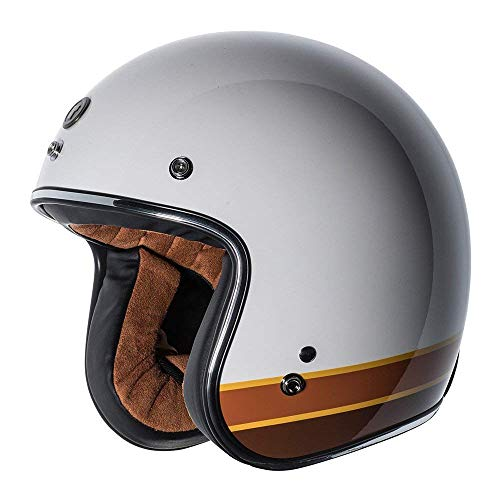 - TORC T-50 3/4 Retro Open Face Motorcycle Helmet With New Graphic (Iso Bars-Medium)