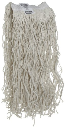 Rubbermaid Commercial FGV11800WH00 Economy Cut-End Cotton Wet Mop Head, 1-inch Headband, 24-ounce, (Band Cut End Mop)