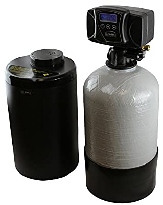 ABCwaters built Compact Fleck 5600sxt 16k Capacity Water Softener System - Perfect for RVs, Mobile Homes, Tiny Homes & Cabins