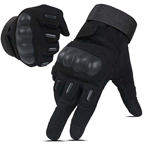 Hikeman tactische softair militaire handschoenen voor mannen en vrouwen, geschikt voor touchscreen, harde…