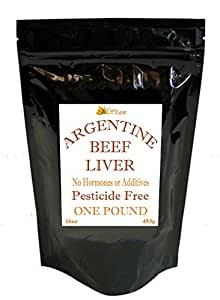 CurEase Argentine Grass Feed Beef Liver Powder Undefatted Desiccated (dried) Pesticide and Hormone Free 1lb One Pound (454grams) 908 Servings