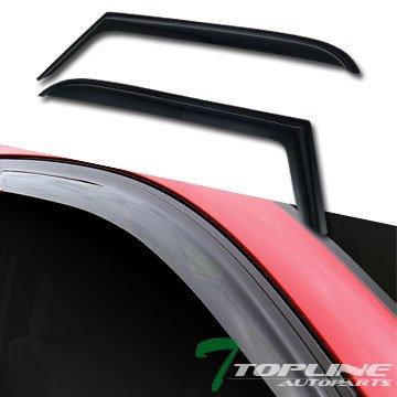 Egr Rear Window Deflectors - Topline Autopart Rain/Wind Guard Smoke Vent Shade Deflectors Window Visor 2Pc 97-06 Jeep Wrangler