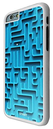 197 - Please Note this only a print Cool Fun maze Print Look Design iphone 6 Plus / iphone 6 Plus 5.5'' Coque Fashion Trend Case Coque Protection Cover plastique et métal - Blanc