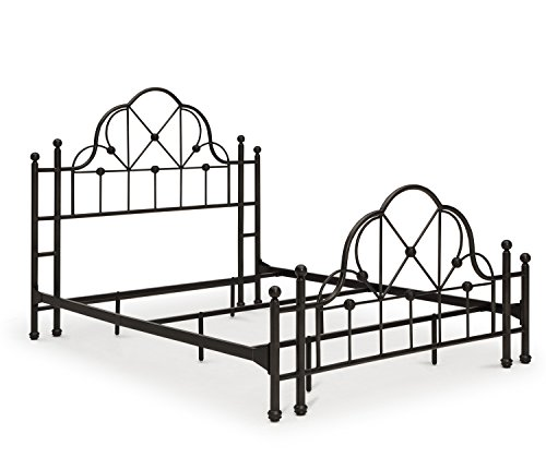 Craft and Main Emma Queen Size Bed, Powder-Coated Iron with Hand-Painted Finish (Metal Poster Headboard)