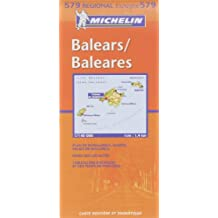Michelin Map Spain Balears (Balearic Islands: Mallorca, Ibiza, Menorca)579