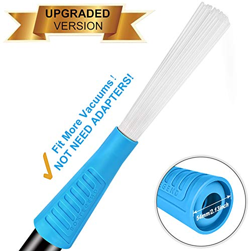 PetOde Universal Dusty Brush Vacuum Attachment Dust Cleaning Sweeper Vacuum Duster Attachment with Universal Adapter Flexible Tiny Tubes Dust Daddy