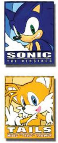 Amazon Com Sonic The Hedgehog Sonic And Tails Frame Anime Pins Set Of 2 Toys Games