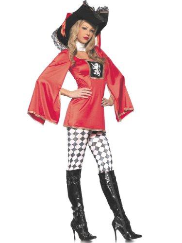 [Costume Adventure Women's Sexy Musketeer Costume -S/M] (Women Musketeer Costumes)