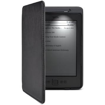 MulBess Funda de cuero para el nuevo Kindle 4 de Amazon con luz ...