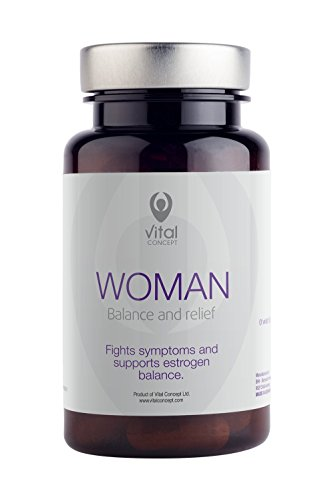 Woman - Effective Menopause Support Supplement. Helps with Hot Flashes, Insomnia, Depression and Headaches Symptoms. Aid with Soy, Red Clover and Rhodiola Rosea Extracts. 60 Capsules, 30 Day