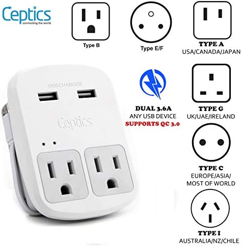 Adapter Chargers Perfect Travelers Ceptics product image