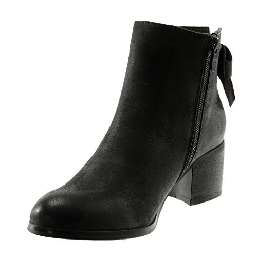 Knot Angkorly Block 5 Booty Node 5 Biker Shoes Fashion Heel high Vintage Boots Ankle Women's Grey cm Style qCqzwgp
