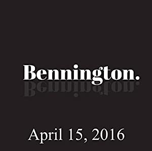 Bennington, April 15, 2016 Radio/TV Program