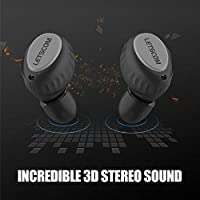 Wireless Earbuds, LETSCOM True Wireless Stereo Bluetooth Headphones, 3D Stereo Sound in-Ear Earbuds, Bluetooth 5.0 Earphones with Portable Charging Box by LETSCOM