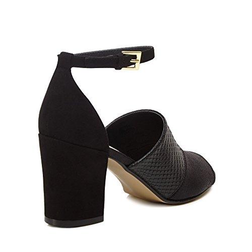 Sandali Nine Savannah Di 'steph' Suedette Cinturino Miller Womens Alla Caviglia Black Con xTx0r