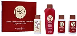 Thermafuse f450 Amino Fusion Smoothing Treatment Kit - Formaldehyde Free Hair Treatment Repairs & Straightens Hair Up To 12 Weeks on Coarse, Wavy, Thick, & Curly Hair Types- Original Strength