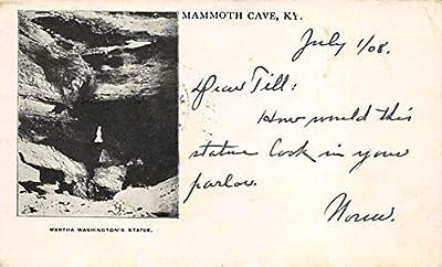 Caves Post Card Martha Washington Statue Mammoth Cave National Park, Kentucky, USA 1908