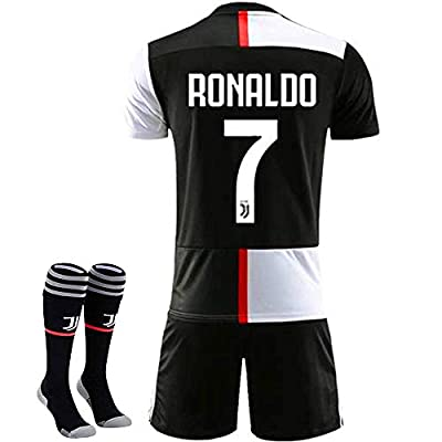 New 19-20 Season 7 Ronaldo Juventus Home Kids/Youth Soccer Jersey