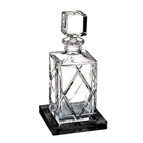 Waterford Olann Short Stories Decanter 28 Oz With Marble Coaster