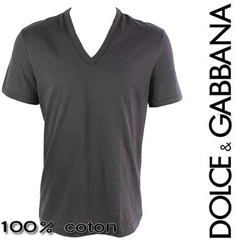 Dolce & Gabbana - Camiseta - para Hombre Gris Large: Amazon.es: Ropa y accesorios
