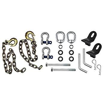 Image of Tow Hooks & Straps Andersen Hitches Ultimate Connection Safety Chains with Rail Tabs