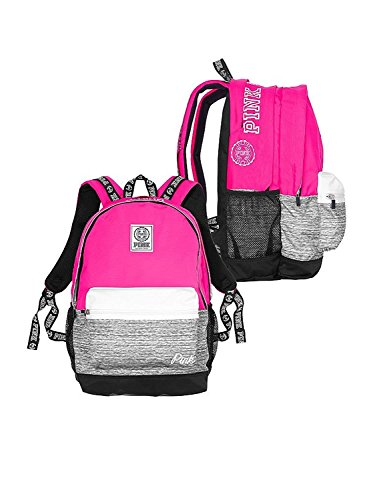 Victoria's Secret Pink Campus Backpack Gypsy Rose Marl Grey Book Bag by Victoria's Secret