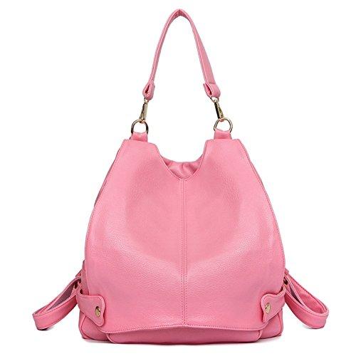 Hipytime BHB880413C3 Fashionable PU Leather Korean Style Women's Handbag,Bucket-Type - Red Polo Macys