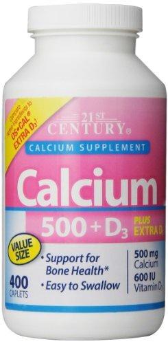 21st Century Calcium 500 Plus Extra D Caplets, 400 Count by 21st Century Vitamins