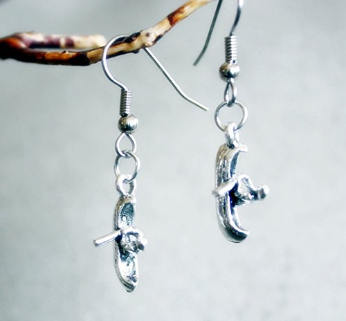 Kayak Earrings Pin Lakes Streams Oceans Dangle Kayaks Are the Way to Have Fun by Canoe