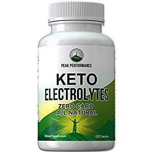 Keto Electrolytes – Beat the Ketosis Flu with Fast Recovery Supplement (120 Capsules). Best 4 Unflavored Salts. Magnesium, Calcium, Sodium, Potassium for Ketosis Hydration. Zero Carb Electrolyte Pills