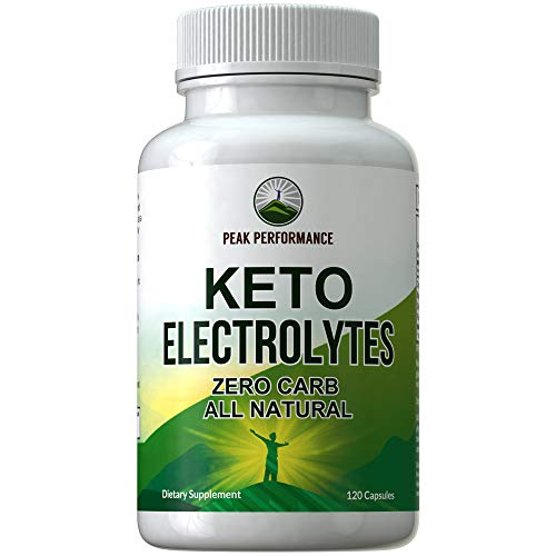 Keto Electrolytes - Beat the Ketosis Flu with Fast Recovery Supplement (120 Capsules). Best 4 Unflavored Salts. Magnesium, Calcium, Sodium, Potassium for Ketosis Hydration. Zero Carb Electrolyte Pills