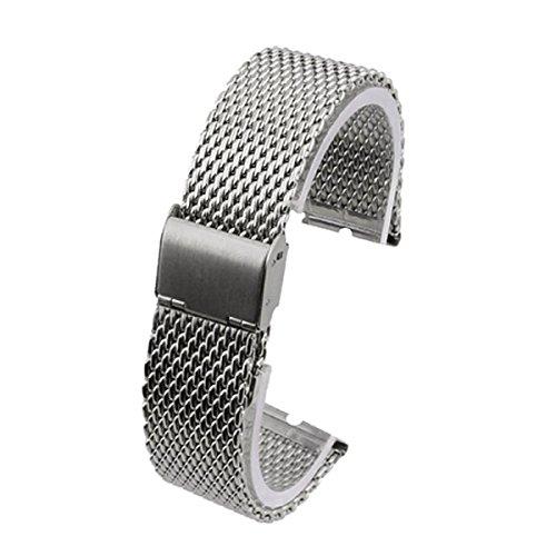 Kissmart Stainless Steel Watch Band Strap Bracelet for Motorola Moto 360 Smart Watch - Mesh Silver