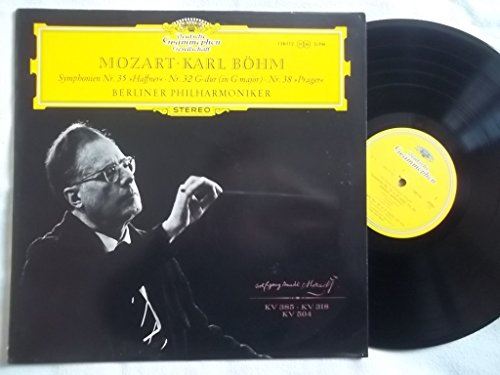 138 112 Mozart Symphonies 35 Haffner 32 38 Prager Berlin PO Karl Bohm LP (112 32)