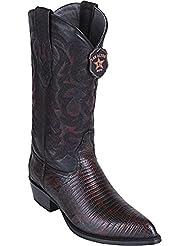 Original Black Cherry Lizard Teju LeatherJ-Toe Boot