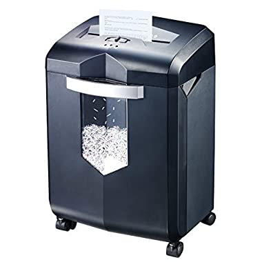 Bonsaii EverShred C149-C 18-Sheet Cross-cut Shredder with 6 Gallon Wastebasket Capacity and 4 Casters