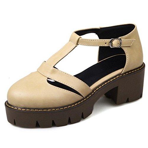 Coolcept Women T Strap Court Shoes Apricot-2 dcmpBXgl